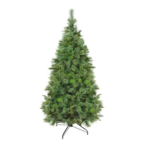 """9.5' x 67"""" Cashmere Mixed Pine Full Artificial Christmas Tree - Unlit - green"""