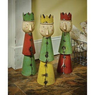 Three Wise Men Figurines Christmas Decor - Recycled Steel