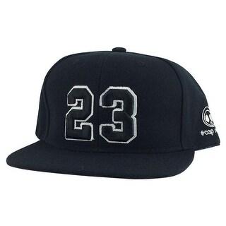 Player Jersey Number #23 Snapback Hat Cap x Air Jordan / Lebron - Black White