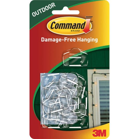 Command 17017CLR-AW Outdoor Light Clips, Clear