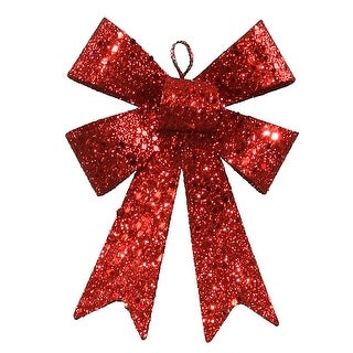 5'' Red Sequin Bow 6/Bag
