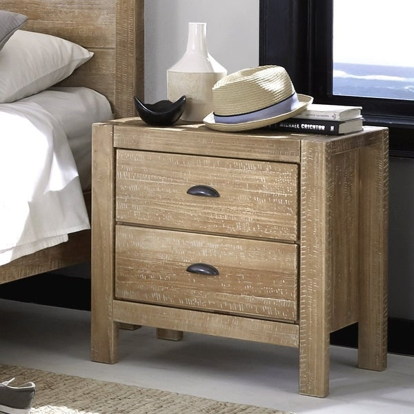 Montauk Solid Wood 2-drawer Nightstand