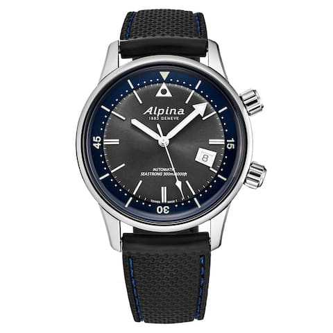 Alpina Men's AL-525G4H6 'Seastrong' Diver Heritage Grey Dial Rubber Strap Automatic Watch