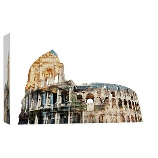 """PTM Images 9-103664  PTM Canvas Collection 8"""" x 10"""" - """"Rome Spirit"""" Giclee Colosseum Art Print on Canvas"""