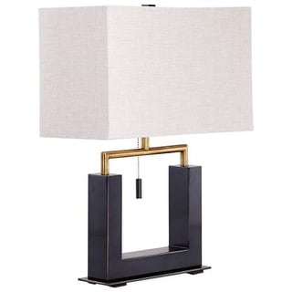 Cyan Design Aspro Table Lamp Aspro 1 Light Accent Table Lamp with White Shade - bronze and black