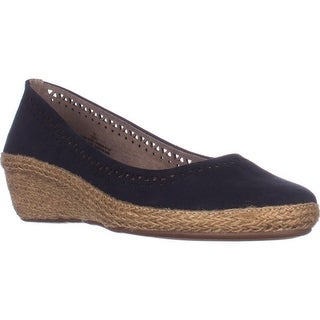 Easy Spirit Derely Comfort Wedge Pumps, Navy Leather
