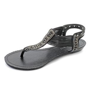 Madden Girl Taahnee Women Open Toe Canvas Black Thong Sandal