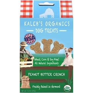 Kaleb's Organics Dog Treats 7.5oz-Peanut Butter Crunch