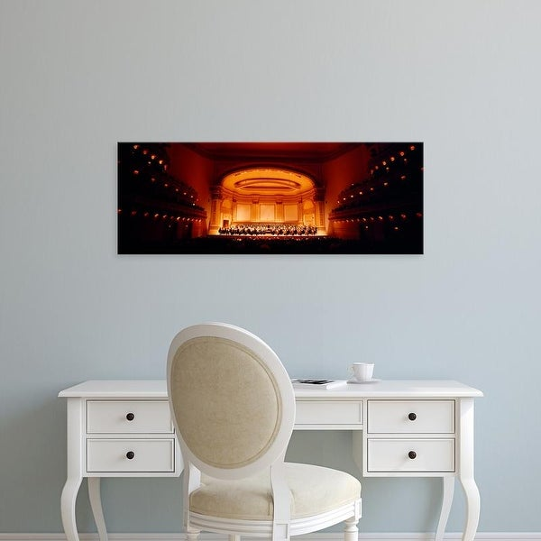 Easy Art Prints Panoramic Image 'Performers on a stage, Carnegie Hall, New York City, New York state, USA' Canvas Art