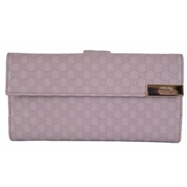 GUCCI Women's 257012 Violet Purple Leather GG Continental Clutch Wallet