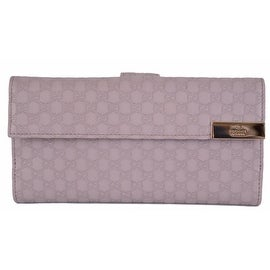 New GUCCI Women's 257012 Violet Purple Leather GG Continental Clutch Wallet