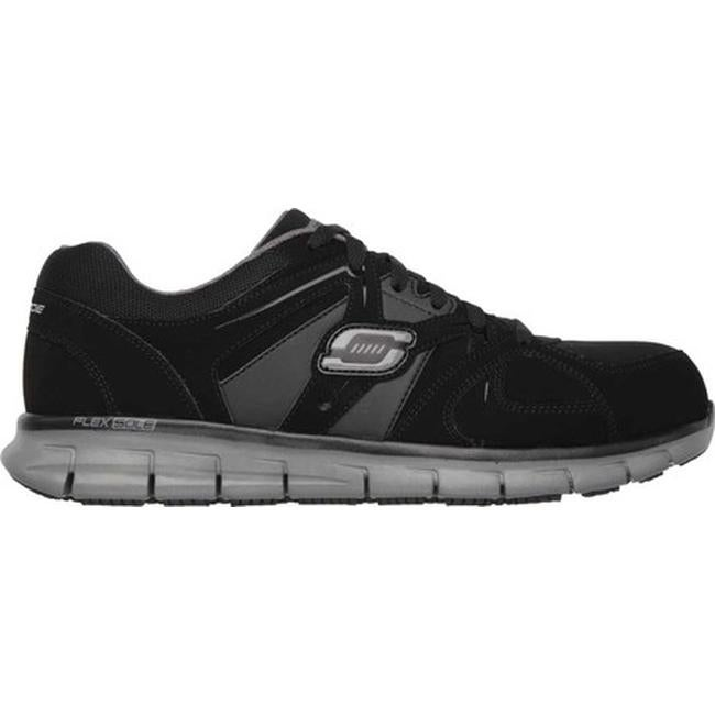 Skechers Men's Work Relaxed Fit Synergy Ekron Alloy Toe Lace Up BlackCharcoal