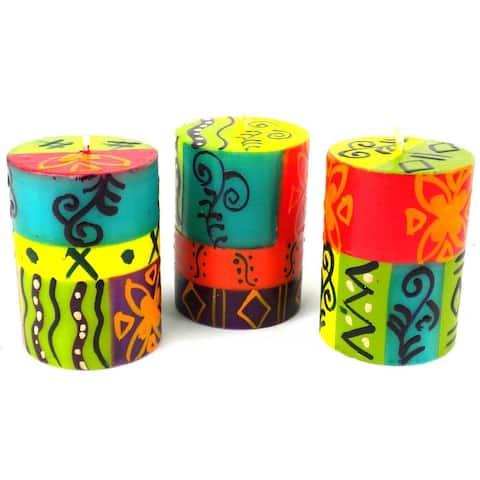 Handmade Matuko Votive Candles, Set of 3 (South Africa)