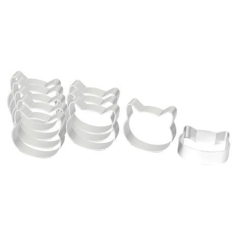Kitchen Cat Shaped Metal Pastry Cookie Baking Cutter Mold Mould DIY Tool 10pcs
