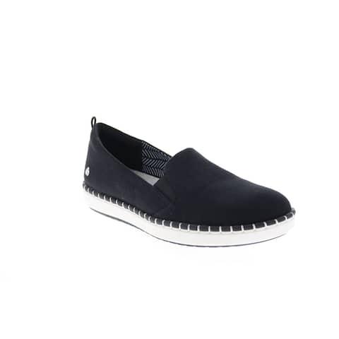 Clarks Step Glow Slip Black Womens Lifestyle Sneakers