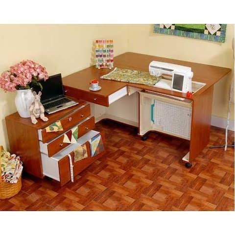"Kangaroo Kabinets - Kangaroo & Joey Sewing Cabinet-Teak - 3"" x 4"" x 0.8"""