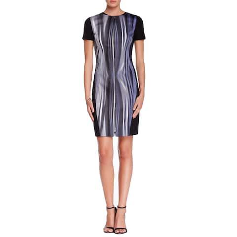 T Tahari Kaylee Metal Wire Blue Dress (2) [Apparel]