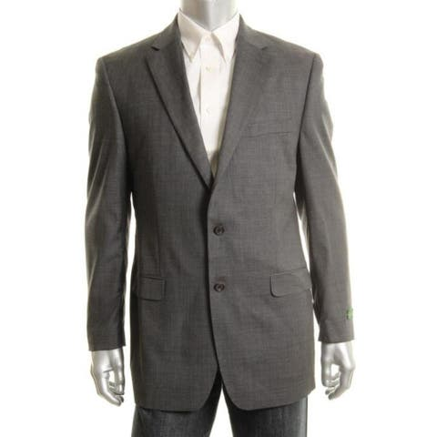 Ralph Lauren Mens Two-Button Suit Jacket Lined Wool - Grey - 60R