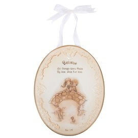 Precious Moments Believe Plaque with Ribbon