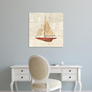 Easy Art Prints James Wiens's 'Nautique II' Premium Canvas Art