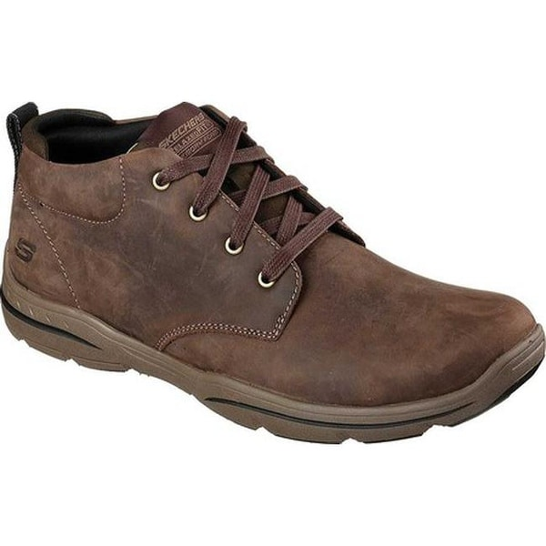 Shop Skechers Men s Relaxed Fit Harper Melden Mid High Top Chocolate ... edc0ac64f7