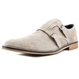 Hush Puppies Style Monk Strap Men Round Toe Leather Oxford