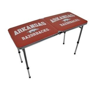 University of Arkansas Razorbacks Folding Aluminum Tailgate Table - Red