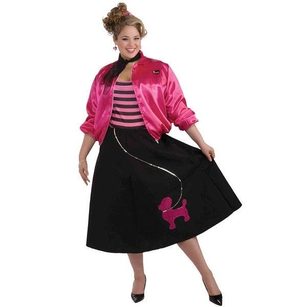Forum Novelties Swinging 50s Plus Costume - Pink - plus size