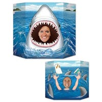 Pack of 6 Under The Sea Themed Double-Sided Shark Stand-Up Cutout Photo Prop Decorations 3' - Multi