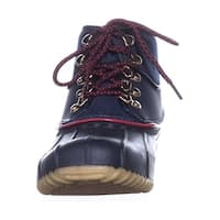 Tommy Hilfiger Womens rinah Closed Toe Ankle Cold Weather Boots - 5