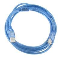 Unique Bargains 10Ft 3 Meters Blue USB 2.0 Male to Male M/M Extension Printer Cable Cord