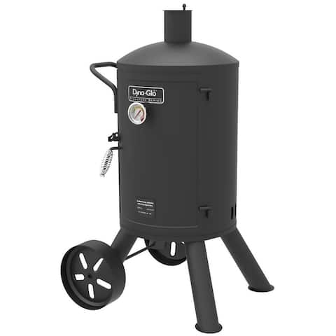 "Dyna-Glo DGSS681VCS-D 23"" Wide Free Standing Charcoal Smoker with Steel Water Bowl from the Signature Series - - Black"