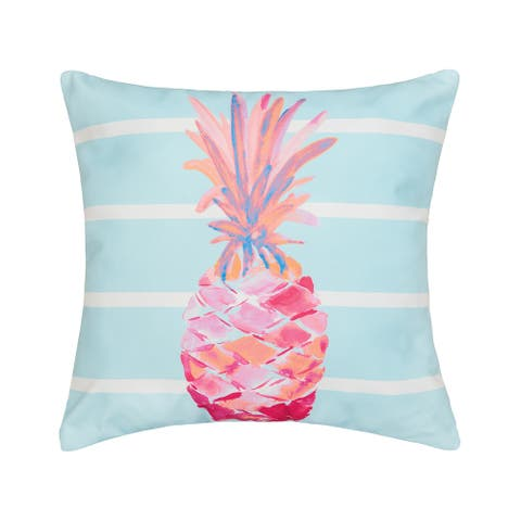 Palm Beach Pineapple Coastal Indoor/Outdoor 18x18 Throw Accent Decorative Accent Throw Pillow