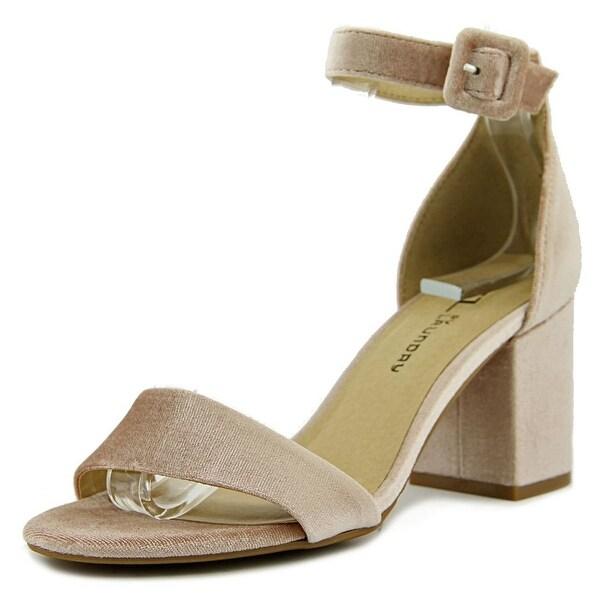 CL By Laundry Jody Women Open Toe Synthetic Pink Sandals