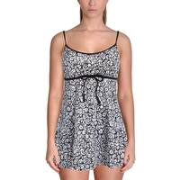 It Figures! Womens Be Happy Printed Slimming Swimdress