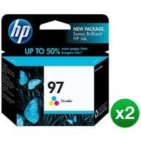 HP 97 Tri-color Original Ink Cartridge (C9363WN) (2-Pack)