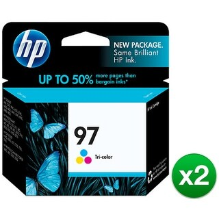 """HP 97 Tricolor Original Ink Cartridge C9363WN (2-Pack) HP 97 Tri-color Ink Cartridge - Cyan, Magenta, Yellow - Inkjet - 450"