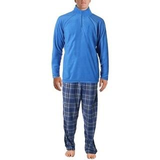 Weatherproof Mens Microfleece 1/4 Zip Pajama Gift Set