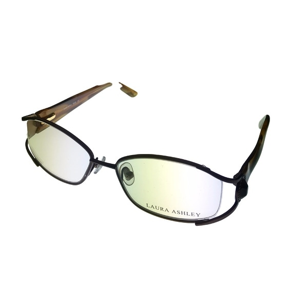 Laura Ashley Womens Opthalmic Eyeglass Rectangle Metal, Molly Chamomile