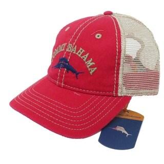 Tommy Bahama Washed Marlin Camper Red Adjustable Golf Hat Ball Cap