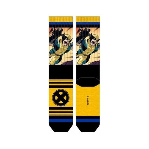X-Men Wolverine Sublimated Panel Crew Socks