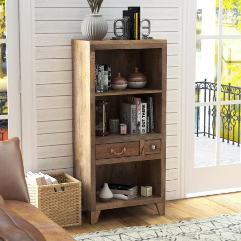 Furniture of America Rudd Solid Wood Bookcase