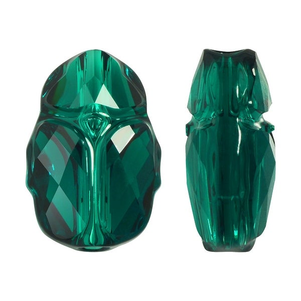 Swarovski Elements Crystal, 5728 Scarab Bead 12mm, 1 Piece, Emerald