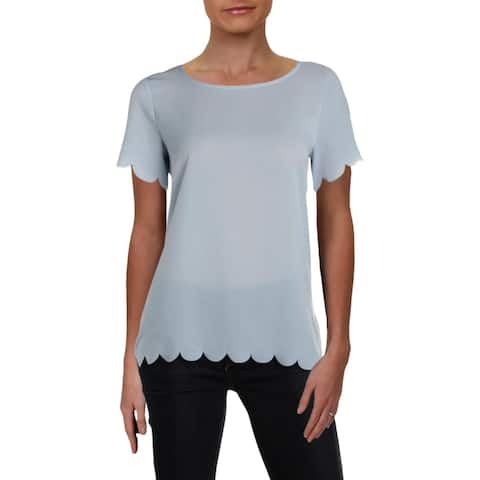 French Connection Womens T-Shirt Crepe Short Sleeves - XS