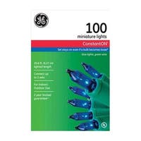 GE 64424 100 Count Blue Constant On Mini String Light Set