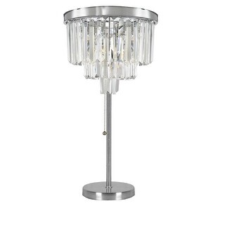 Odeon Crystal Glass Fringe 3-tier Table Lamp