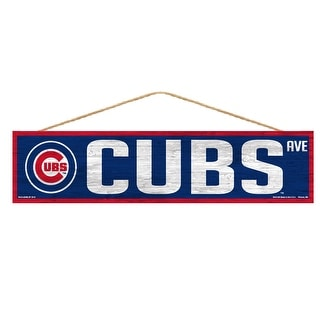 Chicago Cubs Sign 4x17 Wood Avenue Design