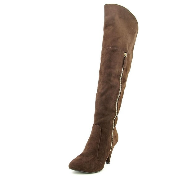 N.Y.L.A. Ashlra Women Round Toe Synthetic Over the Knee Boot