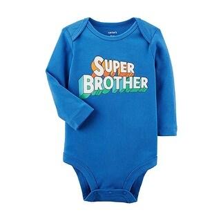 Carter's Baby Boys' Long Sleeve Super Brother Bodysuit