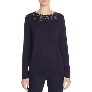 Magaschoni Womens Pullover Top Silk Cashmere